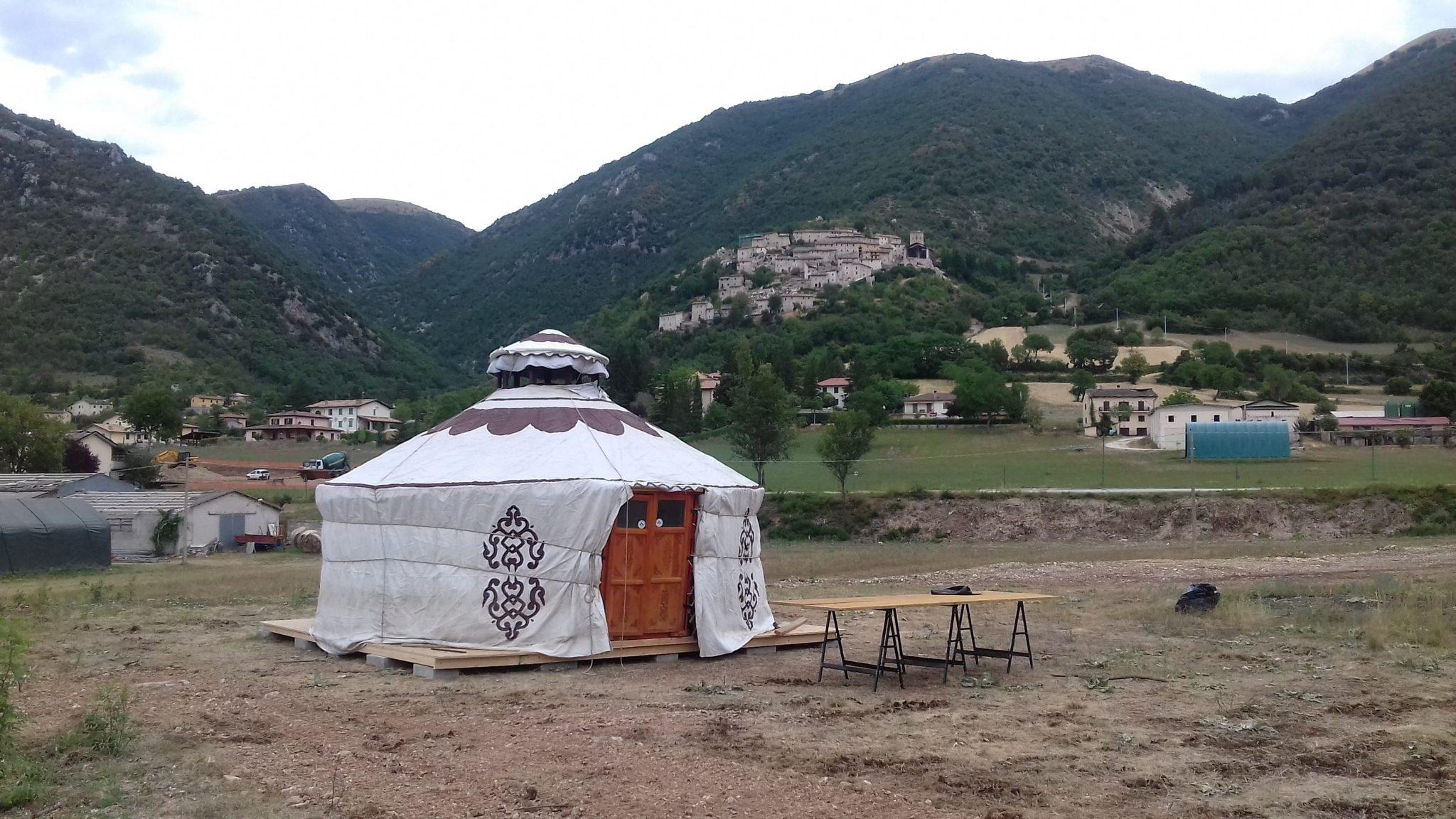 yurta a campi di Norcia