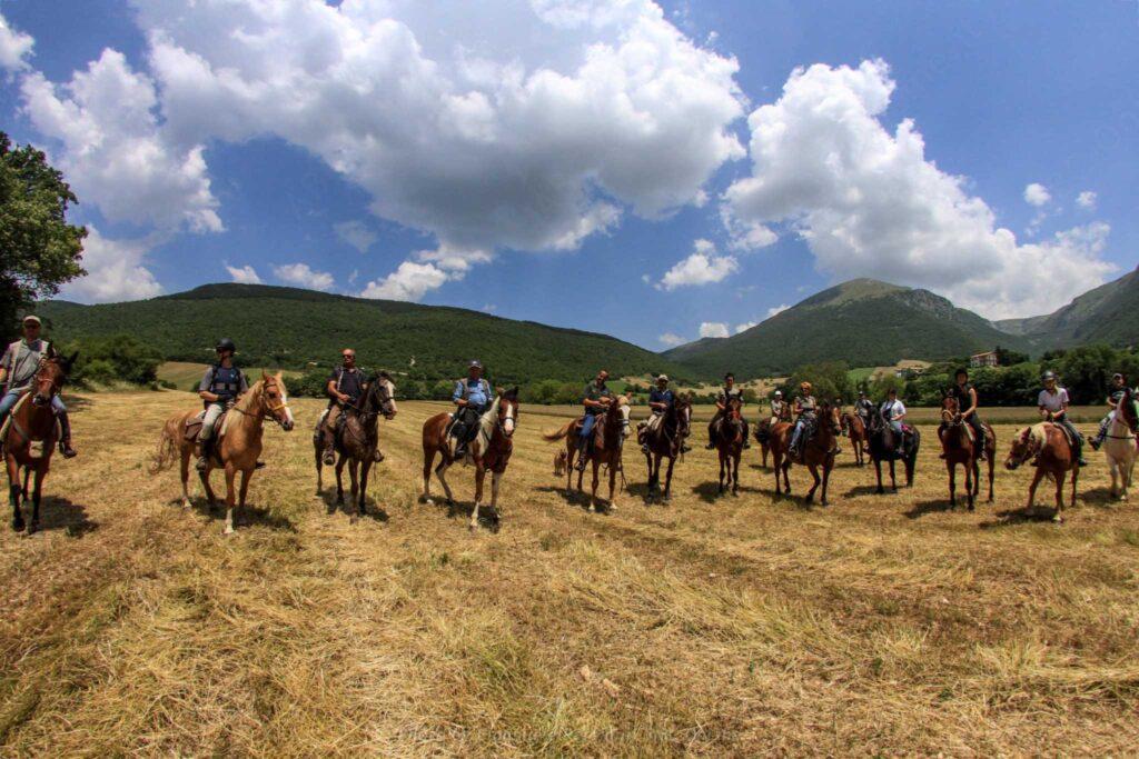 gruppo escursioniacavallo cavalli escursione